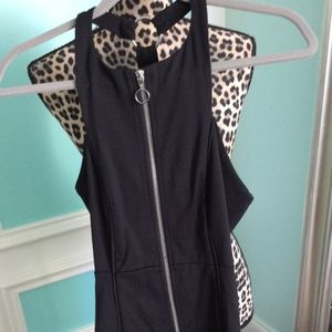 Free People Stretch Zip Front Dress Size XS